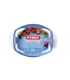 Pyrex ovale braadslede glas met greep 35 x 24 cm 2,8L