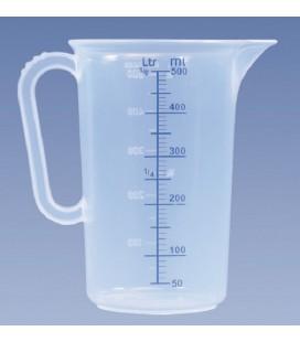 Maatbeker kunststof 0,5 liter