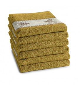 DDDDD Keukendoek bees 50x55cm yellow per stuk