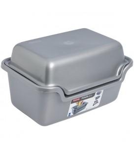 Curver aardappel schilbak 2-delig zilver