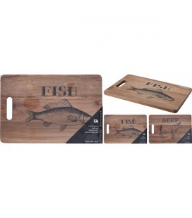Snijplank Acacia hout beef of fish 36x24x1,5cm