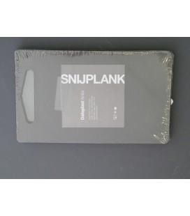 Snijplank kunststof Duoplast Anita zwart 25x15cm