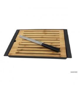 Bamboe snijplank m/mes