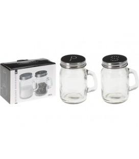 Peper en zout shakerset glas