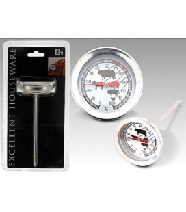 Vleesthermometer analoog rvs