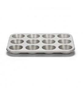 Patisse SilverTop muffinvorm 12-vaks antikleef 35x27cm