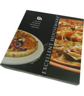 Pizzasteen (33cm) met houder
