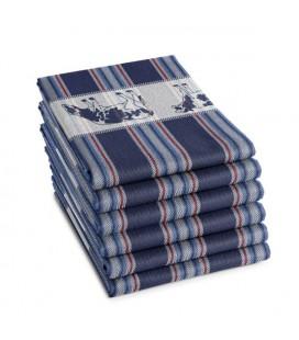 DDDDD Theedoek Friesian blue 60x65cm per stuk