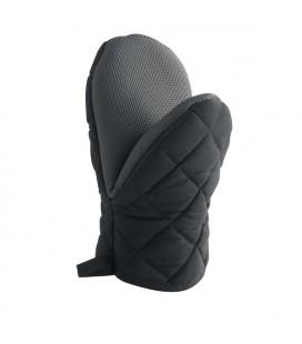 Ovenhandschoen met neoprene grip 24x14cm zwart