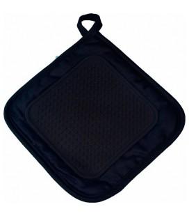 Pannenlap met silicone grip 19x19cm zwart