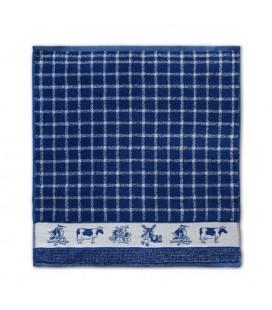 DDDD Keukendoek 50x55 cm Dutchie blauw per stuk