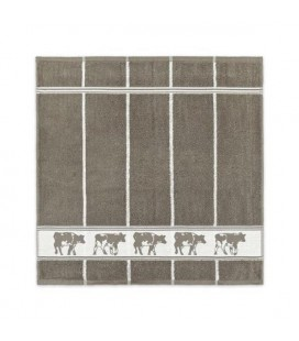 DDDDD Keukendoek koe taupe 50x55cm per stuk
