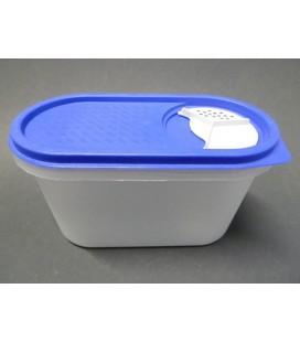 Voorraadbus ovaal met doseerdeksel Inhoud: 1,2 L plastic PP5