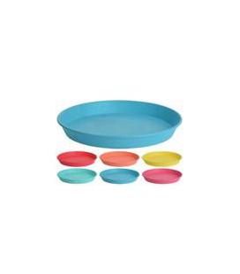 Borden kunststof per set van 6 assorti kleuren