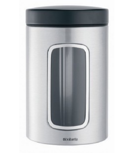 Brabantia vensterbus matt steel fingerprint proef 1,4 L