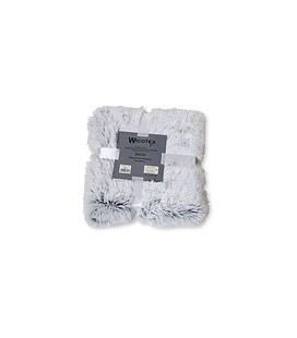 PLAID SNOW 150X200CM wit /zwart polyester kunst bont