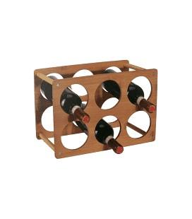 Wijnrek bamboe 6 flessen