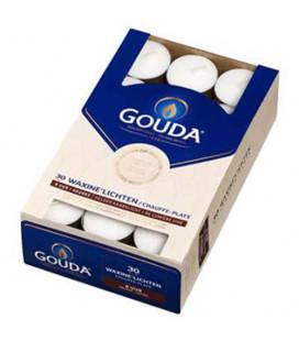 Gouda Waxinelichten wit 8 uur 30 stuks