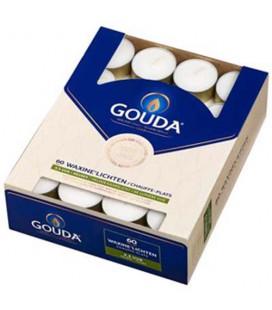 Gouda waxinelichten wit 4,5 uur 60 stuks