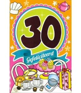 Leeftijdskaart 30 jaar