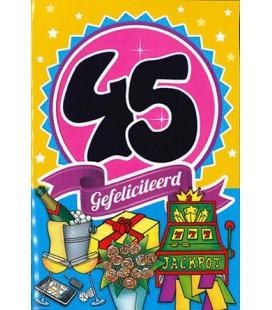 Leeftijdskaart 45 jaar