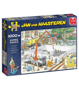 Jan van Haasteren puzzel : Zwembad onder constructie 1000 stuks