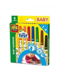 Ses My First - Baby markers 8 kleuren