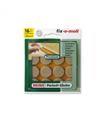 Fix-o-moll parketgl rond 22mm beige