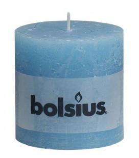 Bolsius rustiek stompkaars 100/100mm rustiek Aqua