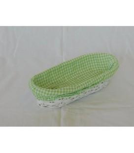 Mand ovaal groen 30x15x7cm / broodmand