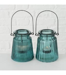 Boltze Home windlicht Laurenia H12cm turquoise