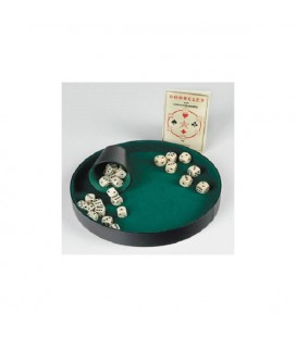 Pokerpiste 26 cm zwart kunstleder exclusief kaarten, dobbelbeker, en dobbelstenen. Bevat enkel de Pokerpiste.