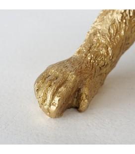 Boltze Home Aap Yorrick kunsthars h43cm goud