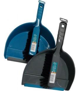 Linea stoffer en blik kunststof assorti grijs of blauw (assorti geleverd)