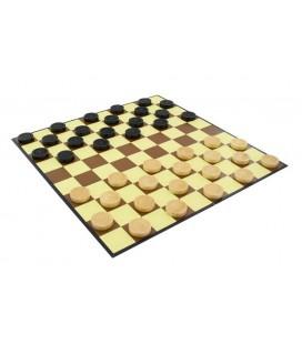 Jumbo Dammen 1 kartonnen dambord met 40 houten schijven