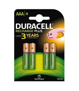 Duracell Recharge Plus 4xAAA 750mAh oplaadbaar