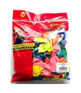 Ballonnen  zak á 100 assorti kleur.  8 inch