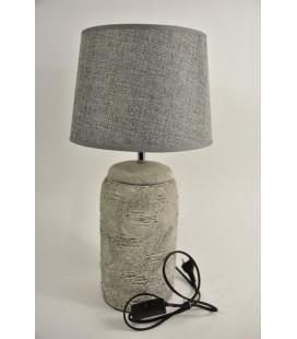 Lampvoet Aardewerk ''Rond'' D15 H39cm Grijs
