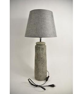 Lampvoet Aardewerk ''smal'' D14 H50cm Grijs