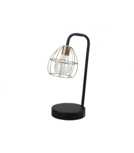 Deco lamp op batterij goud /zwart 28 cm