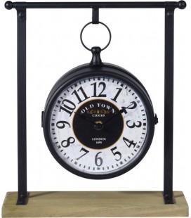 KLOK HANGMODEL 27X10X31CM (klok aan beide zijden )