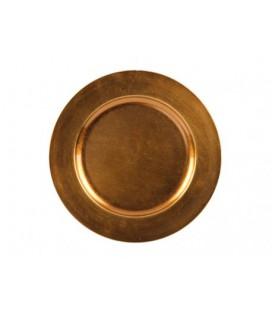 Onderbord plastic plate mustard gold Ø33 cm