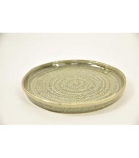 Plate Stoneware Grey 20x20x2cm / bord
