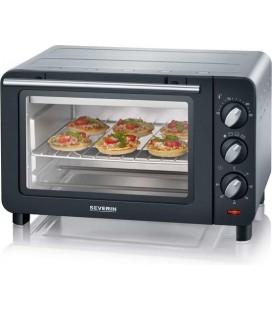 Mini Bak en toast oven  14 liter zwart /zilver 1200 watt
