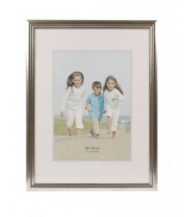 Henzo fotolijst Artos frame 30x40cm foto 20x28cm zilver hout