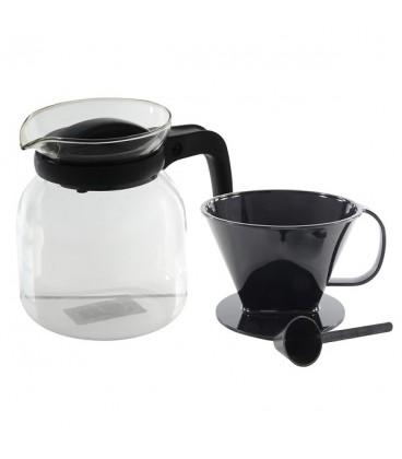 Koffiepot glaskan 1,2L met filter en maatschepje