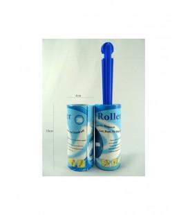 Kleefroller antipluis 10x4 cm voor pluizen + reserverol