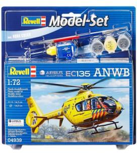 bouwmodel Set Airbus Heli EC135 ANWB Revell: schaal 1:72 (64939)