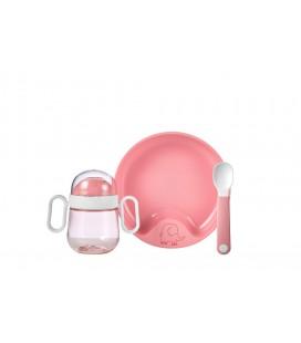 Babyservies Mepal Mio 3-delig - deep pink
