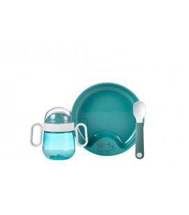 Babyservies Mepal Mio 3-delig - deep turquoise